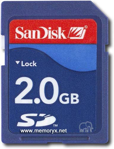 SD Flash Memory Card 2GB