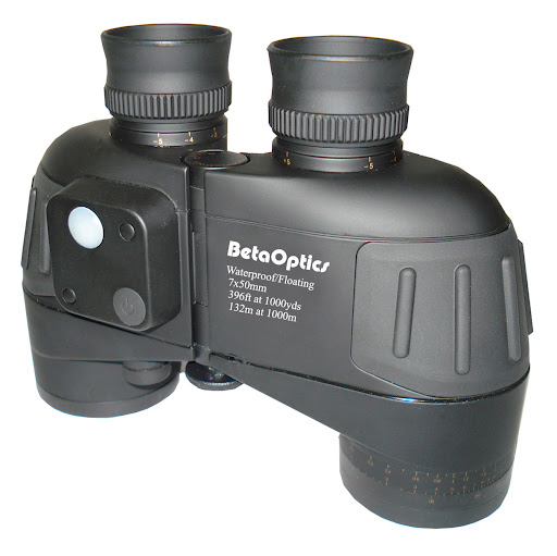 BetaOptics® Waterproof Military Binocular with Compass