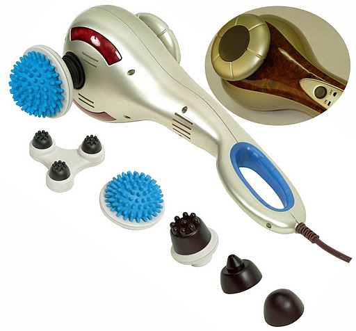 Carepeutic™ Deluxe Deep Tissue Percussion Multi-Head Massager
