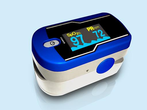 Carepeutic™ Fingertip Pulse Oximeter (Blue)