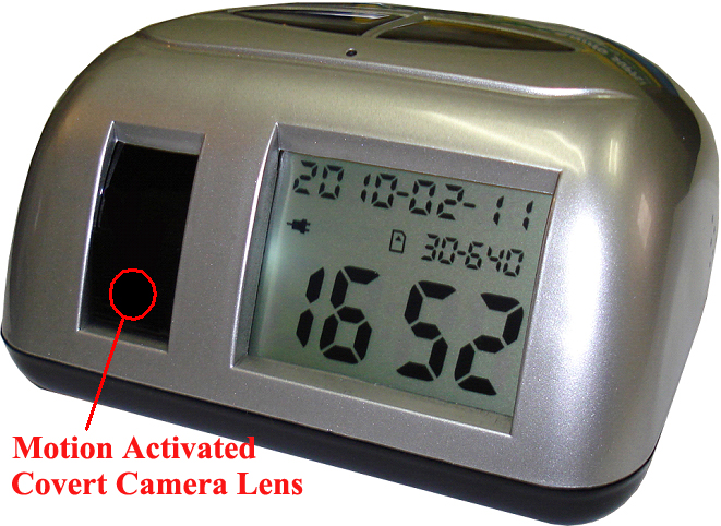 The Secuvox� Digital Motion Activated Hidden Camcorder Clock