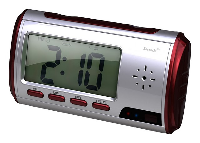 Motion Detection Travel Alarm Clock HD Color Camcorder