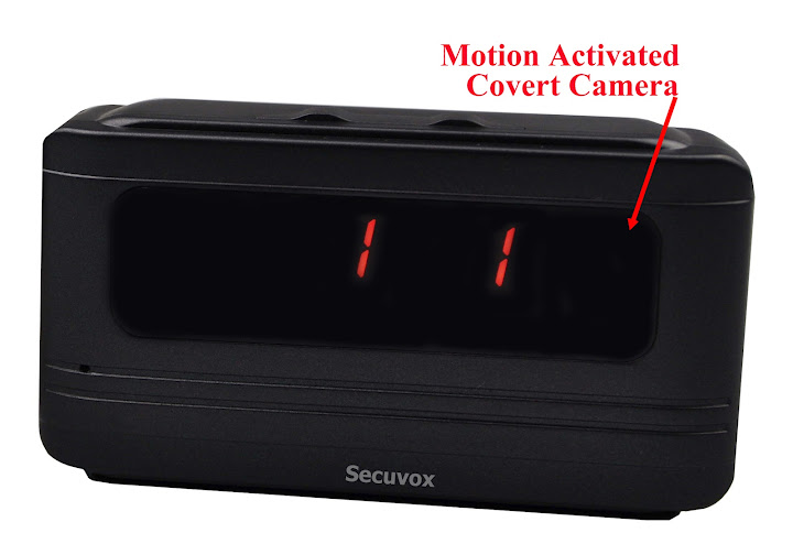 Secuvox® Motion Detection HD Camera Talking Alarm Clock